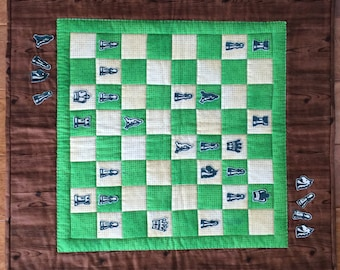 Chess Game  Wall hanging quilt