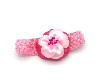 Headband elastic satin Fleur