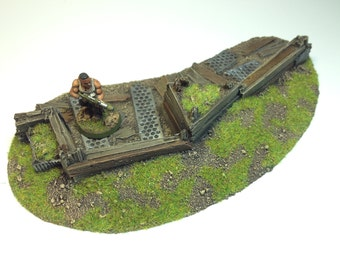28mm Large Barricade Unpainted Resin Defense Line Trench Terrain Scenery Wargaming