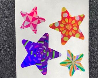 Sandylion Stickers vintage  Glittery Rainbow Star, Stars (1 mod)