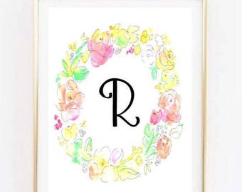 Customized Initial Printable II