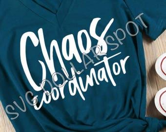 Chaos Coordinator - SVG - SVG File - Silhouette File - Cut File