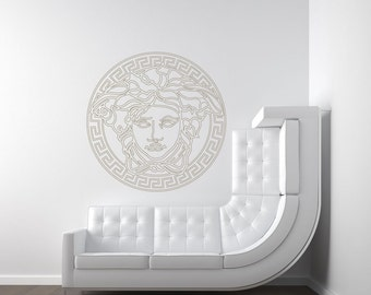Greek Medusa Wall Decal Designer Versace Inspired (#CEV1)