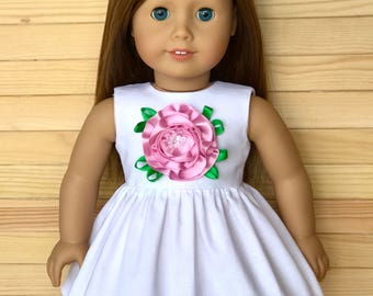 18 inch doll dress with rose