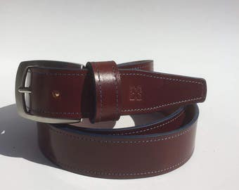 Brown leather belt - Brown leather belt