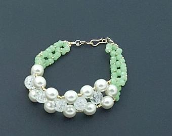 Beautiful opal green Womens bracelet
