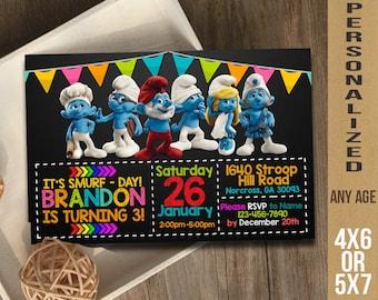 Smurfs / Smurfs Invitation / Smurfs Birthday / Smurfs Party / Smurfs Birthday Invitation / Smurfs Party Invitation / Smurfs Printable Invite