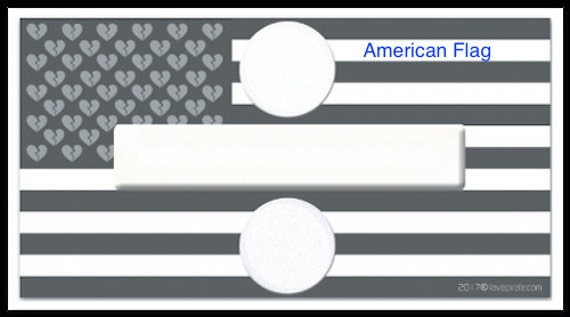 American Flag Custom Design Divided Country B&W Vinyl Sticker Decal x 2