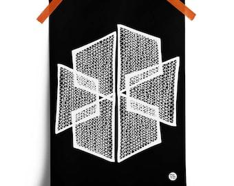 Abstract Black & White Wall Art Print No. 6: ideal housewarming or birthday gift. (A3 Digital Print)