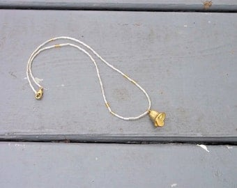 Silver and Gold Bell Necklace