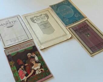 Theater Program Collection Art Deco Opera 1920s
