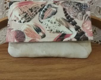 Billfold, Zipper change purse, Shell fabric