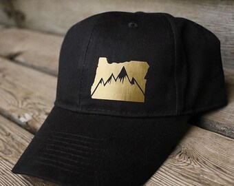 State of Oregon gold and black mountian hat
