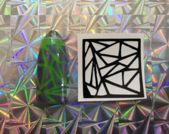 Broken Glass Stencil