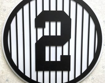 Derek Jeter Retired Number 2 Wall Art
