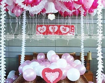 Hanging Tissue Paper Garlands Wall Decorative