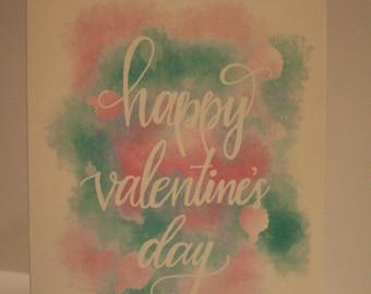 Happy Valentine's Day Card (single card)