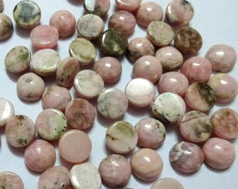AAA Quality ROHODONITE cabochon,6 mm/ 8 mm/ 10mm ,Rohodonite smooth cabochon. tiny gems, Tiny Cab, Superb gems for Jewellery