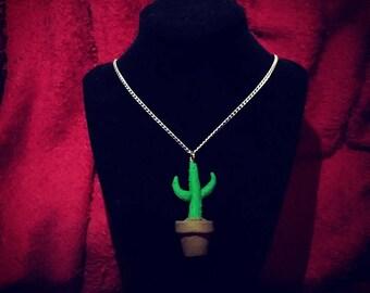 Polymer Clay Cactus Pendant