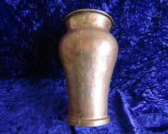 Vintage Dovetailed Copper Vase