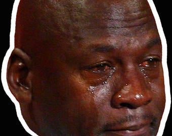 Crying Jordan Vinyl Decal Sticker
