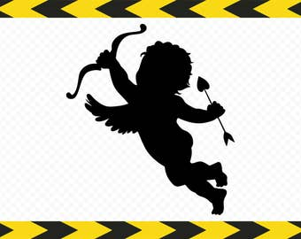 Cupid Angel Guardian SVG files for cricut Clipart DXF PDF Png