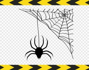 Spider web Svg Spiderweb DIY Decal Scrapbook Clipart Cut files for Cricut Silhouette Dxf Pdf Png