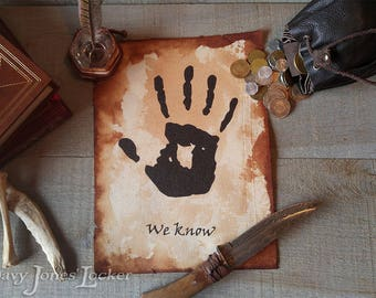 We know - Parchment paper - Skyrim - Dark Brotherhood