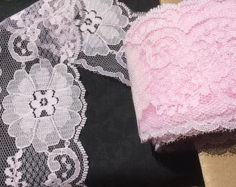 "Pink Lace trim 2 1/2"" wide"