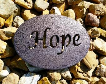 Metal Inspirational Hope Sign