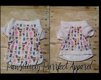 puppy shirt, dog clothing, pet apparel, handmade for your pet, pet clothes, dog clothes, Custom made dog apparel, puppy, dog shirt,