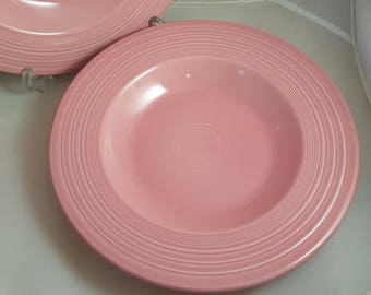 2 HLC Fiesta Rose Pasta Bowls 12 in - 2 Lots Available