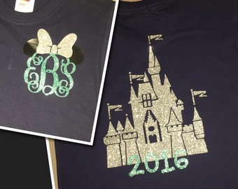 GLITTER castle and initial tee