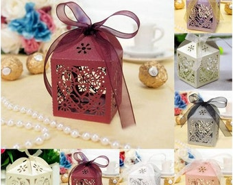 10 Pcs Wedding/Party Favor Candy Boxes