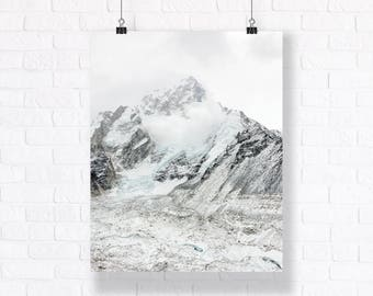 Snowstorm - Himalayas. High Quality Atmospheric Nature Print. Combine with Other Prints to Create Your Very Unique Gallery Wall.