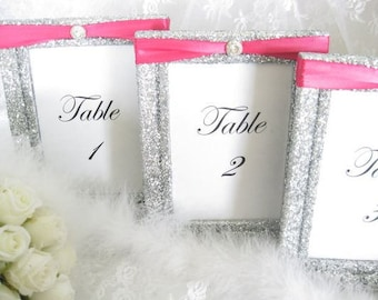 Frames, Weddings, Decorations, Table Number Frames, Table Numbers, Table Names, Great Gatsby Wedding, Wedding Frames, Silver Wedding Decor