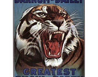 Barnum Bailey Ferocious Tiger Circus Posters