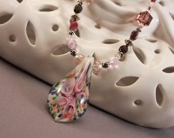 Lampwork Springtime Burst Necklace