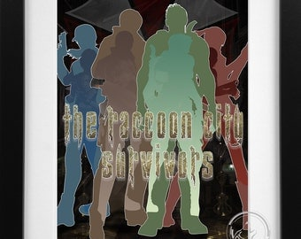 The Raccoon City Survivors; Resident Evil  Print (2 Varients)