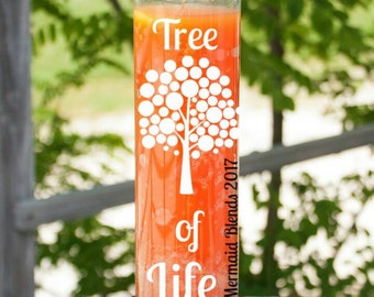 Tree of Life Affirmation Candle// Attraction Candle//Love Candle// Valentine gift//Blessed Candle//Prayer Candle//Meditation Candle
