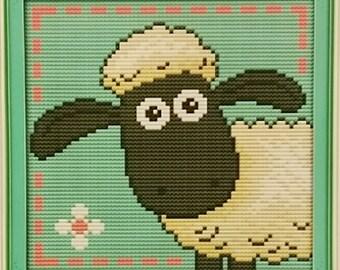 Little Sheep Cross Stitch Kit, 14CT Aida Fabric