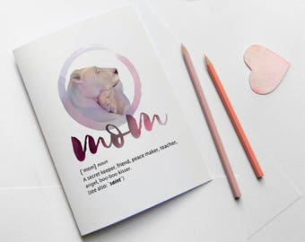 Printable card for mom, Lioness, Moms birthday card instant download, fun mom definition, mothers day art print, birthday card for mom