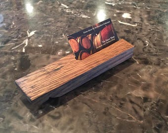 Bourbon Barrel Business Card Holder