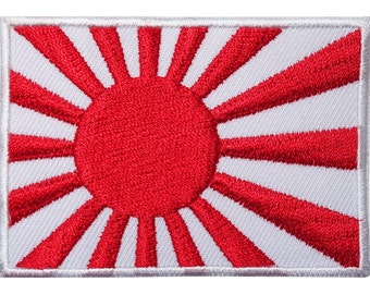 Japan Rising Sun Flag Embroidered Iron / Sew On Patch Karate Military Army Badge