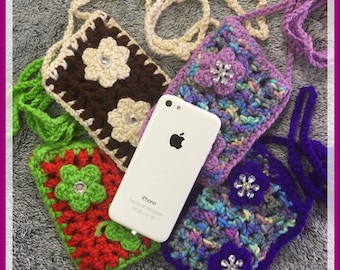 Crochet small wallets for cell phones, Cigarettes
