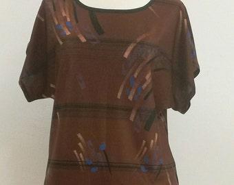 Stretch blouse size 38/40/blouse strech fabric medium, large size