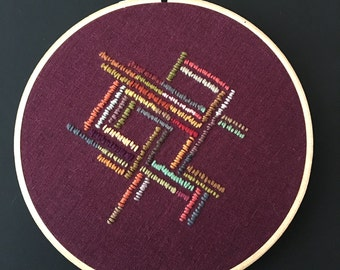 Jagged Geometry Abstract Embroidery