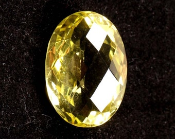 47.20 ct. Natural Lemon Quartz faceted oval cut loose gemstones Ki-15149