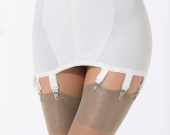 Garter Girdle, English Retro style, 8 Straps, Sits very snug and holds those nylons perfect.  Sizes S thru L