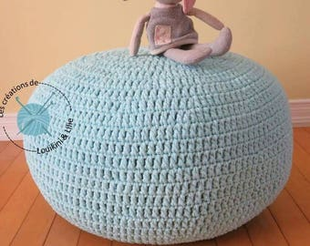 Pouf. Been bag. Floor cushion. Chair-bag. Floor pillow pouf. Made by hand. To order
